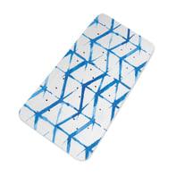 Tappeto antiscivolo rettangolare Shibori in pvc blu 91 x 36 cm