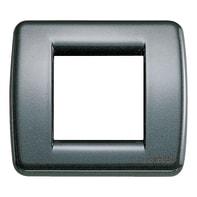 Placca VIMAR Idea 2 moduli antracite metallizzato
