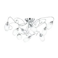Plafoniera Ely bianco, in vetro, diam. 80 cm, E14 9xMAX40W IP20