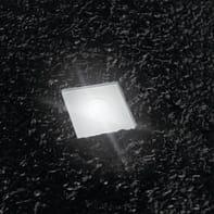 Faretto da incasso da esterno quadrato Slim LED integrato in acciaio, grigio metallizzato, 1W 24LM IP67