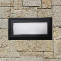 Applique Bronson LED integrato in alluminio, grigio, 11W IP44 INSPIRE
