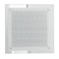 Plafoniera Joyce bianco, in vetro, 45x45 cm, IP20