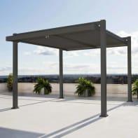 Pergola alluminio grigio L 320 cm x P 360 cm, H 2.46 m