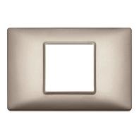 Placca VIMAR Plana 2 moduli nichel perlato
