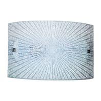 Plafoniera classico Chanel LED integrato bianco, in vetro, 25x40 cm,