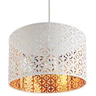 Lampadario Nador oro, bianco, in plastica, diam. 40 cm, E27 MAX40W IP20 SEYNAVE