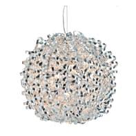 Lampadario Classico Opera argento in alluminio, D. 70 cm, 5 luci, LUSSIOL