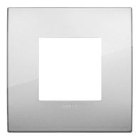 Placca VIMAR Arké 2 moduli argento