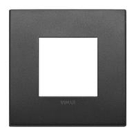 Placca VIMAR Arké 2 moduli grafite matt