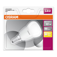 Lampadina LED, E14, Sferico, Smerigliato, Luce calda, 6.0W=470LM (equiv 40 W), 200.0° , OSRAM