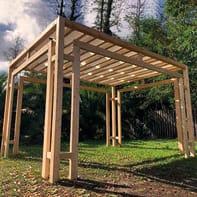 Gazebo legno Sintesi bianco L 86 cm x P 410 cm, H 2.52 m