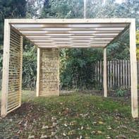 Gazebo legno Cube bianco L 90 cm x P 410 cm, H 2.36 m