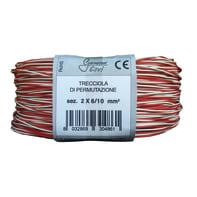 Cavo telefonico GERVASONI CAVI   2 conduttori 100 m bianco/rosso