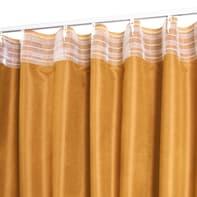 Tenda Alca giallo fettuccia con passanti nascosti 140 x 280 cm