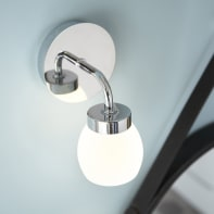 Applique Elia cromo, in metallo, 12.5 cm, LED integrato 3.5W 300LM IP44 INSPIRE