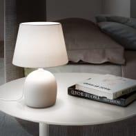 Lampada da comodino Shabby Poki grigio , in ceramica, INSPIRE
