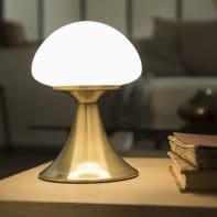 Lampada da tavolo Glamour Kinoko bianco, in metallo, INSPIRE