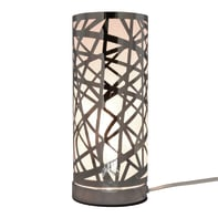 Lampada da tavolo Liverpool cromo, in metallo, E14 MAX 40W IP20 INSPIRE