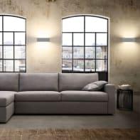 Applique industriale Desmo grigio, in metallo, 10x45 cm, 6 luci LUMICOM