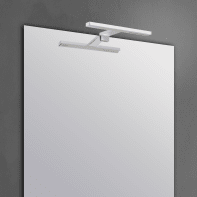 Applique Slim con kit multi attacco cromo, in alluminio, 50x8.2 cm, LED incassato 7.8W IP44 INSPIRE
