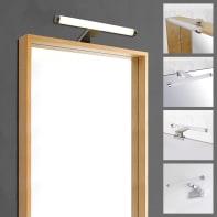 Applique moderno Solar con kit multi attacco LED integrato cromo, in plastica, 30x30 cm, INSPIRE