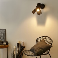 Applique industriale Studio nero, in metallo, 38.0x38.0 cm, INSPIRE