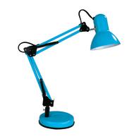 Lampada da scrivania Pop flessibile Ennis blu , in metallo, INSPIRE