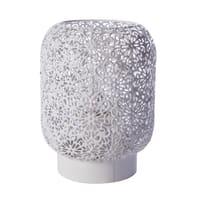 Lampada da comodino Shabby Zéphir bianco, in metallo, LUSSIOL