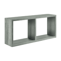 Mensola a cubo Spaceo L 70 x H 35 cm, Sp 23 mm rovere grigio
