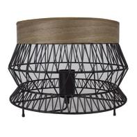 Lampada da tavolo Manam nero, marrone, in ferro, E27 MAX 60W IP20 INSPIRE
