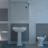 Mosaico Cubo 3D H 28 x L 28 cm bianco/nero/grigio