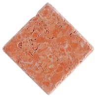 Pietra irregolare Marmo Verona 10 x 10 cm rosso