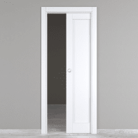 Porta scorrevole a scomparsa Atria bianco L 80 x H 210 cm reversibile
