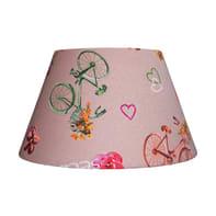 Paralume per lampada da comodino personalizzabile  Ø 30 cm multicolore in teletta