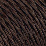 Cavo tessile MERLOTTI 3 fili x 0,75 mm² marrone 50 metri