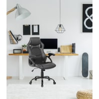 Sedia da ufficio con braccioli Nero nero