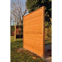 Perlina singola per composizione thermowood in legno H 14.4  x L 168.3 cm