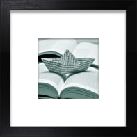 Stampa incorniciata Barchetta 30x30 cm