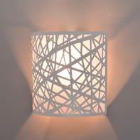 Applique moderno Liverpool glitter bianco bianco, in metallo,  D. 23 cm INSPIRE