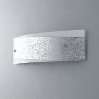 Applique Paris bianco e argento, in vetro, 12x45 cm, E14 MAX40W IP20