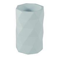 Bicchiere porta spazzolini Poly in poliresina bianco