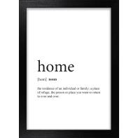 Stampa incorniciata Home 13x18 cm