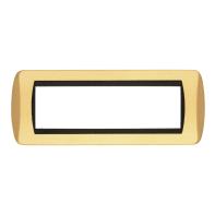 Placca CAL Living International 7 moduli oro satinato compatibile con living international