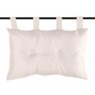 Cuscino Testata letto Bea lino bianco 70x45 cm