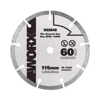 Disco di taglio WORX DISCO TAGLIO DIAMANTATO 115MM per multiuso Ø 115 mm