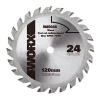 Lama per sega circolare WORX DISCO TAGLIO LEGNO 115MM acciaio Ø 120 mm 24 denti