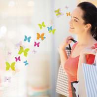 Sticker Butterflies 15.5x34 cm