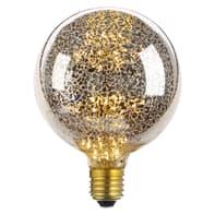 Lampadina decorativa LED Globo, E27, Globo,  diffusore Argentato, col.luce Ambrato, 1.4W=30LM (equiv 10 W), 360°