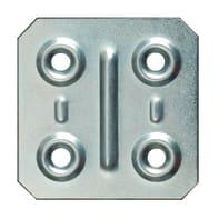 Piastra angolare in acciaio zincato L 40 x Sp 1 x H 40 mm  4 pezzi