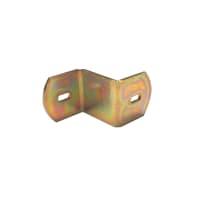Piastra angolare standers acciaio zincato L 40 x Sp 2.5 x
